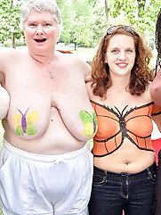 Nudist Granny Shows off Nice Huge Tits