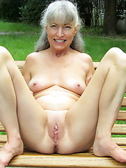 Grannies and matures exposing fabulous breasts and thighs
