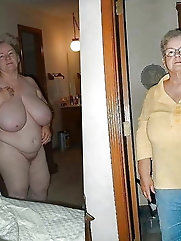 Hot g-stringandthong wearing grannies