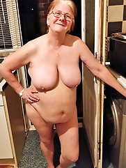 Grannies and matures naked in the kitchen